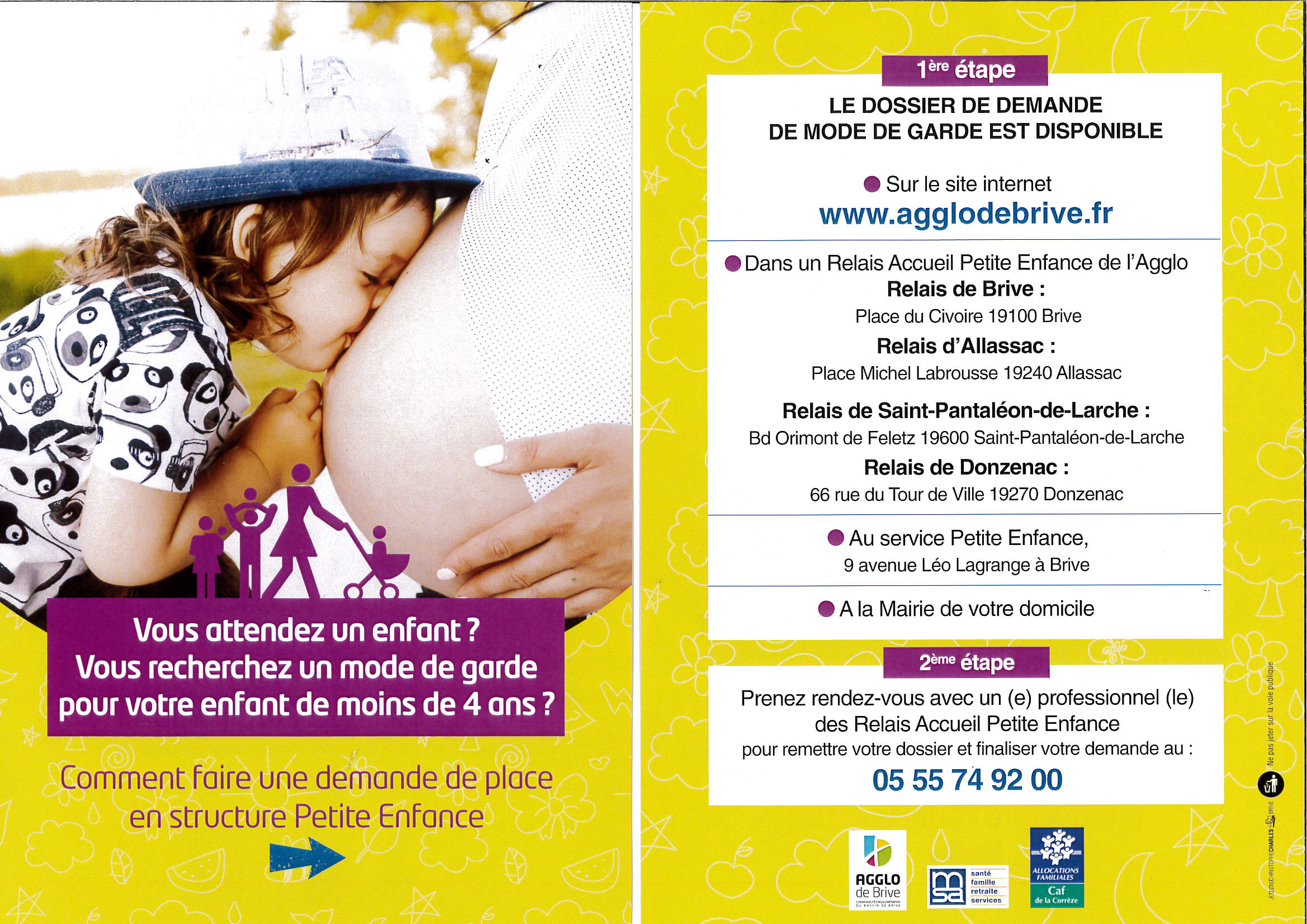inscription creche
